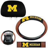 Michigan Wolverines Steering Wheel & Headrest Cover Set