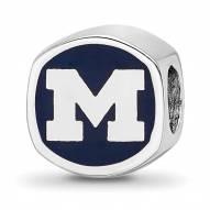 Michigan Wolverines Sterling Silver Logo Bead