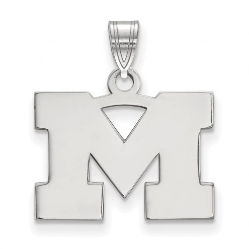 Michigan Wolverines Sterling Silver Small Pendant