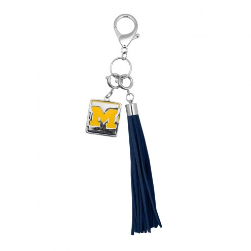 Michigan Wolverines Tassel Purse Charm
