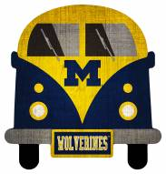 Michigan Wolverines Team Bus Sign