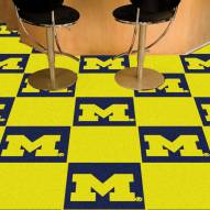 Michigan Wolverines Team Carpet Tiles