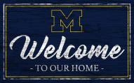 Michigan Wolverines Team Color Welcome Sign