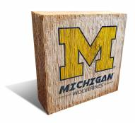 Michigan Wolverines Team Logo Block