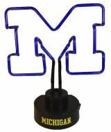 Michigan Wolverines Team Logo Neon Lamp