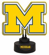 Michigan Wolverines Team Logo Neon Light