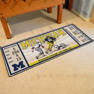 Michigan Wolverines Ticket Runner Rug