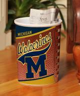 Michigan Wolverines Trash Can