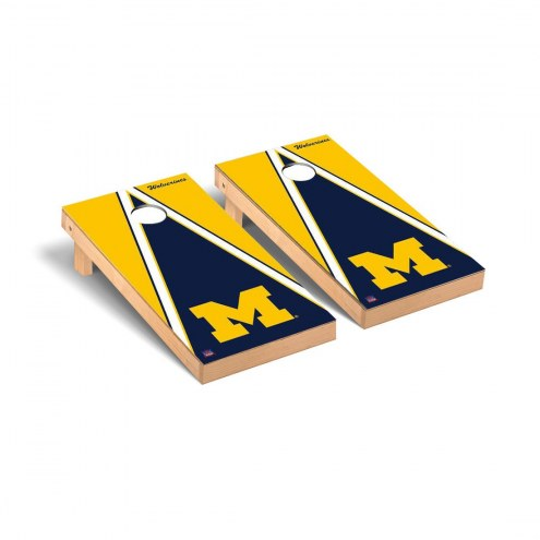 Michigan Wolverines Triangle Cornhole Game Set