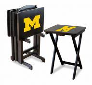 Michigan Wolverines TV Trays - Set of 4