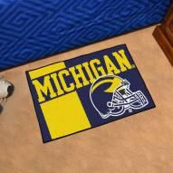 Michigan Wolverines Uniform Inspired Starter Rug