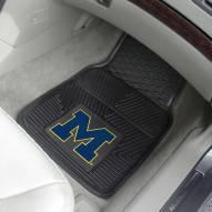 Michigan Wolverines Vinyl 2-Piece Car Floor Mats