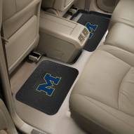 Michigan Wolverines Vinyl 2-Piece Rear Floor Mats
