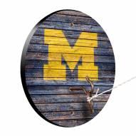 Michigan Wolverines Weathered Design Hook & Ring Game