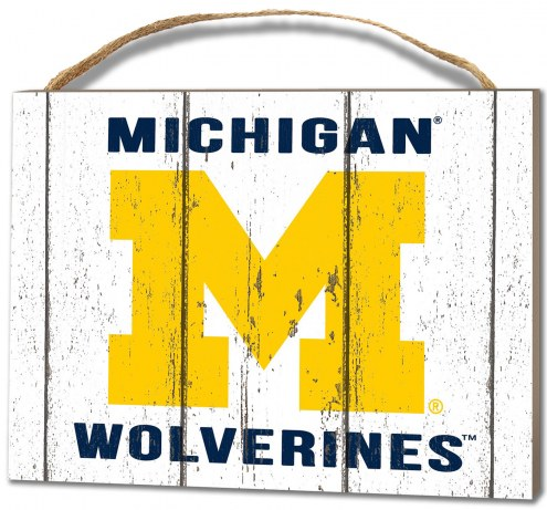 Michigan Wolverines Weathered Logo Small Plaque