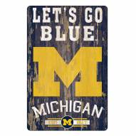Michigan Wolverines Slogan Wood Sign