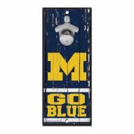 Michigan Wolverines Wood Bottle Opener
