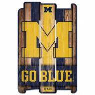 Michigan Wolverines Wood Fence Sign