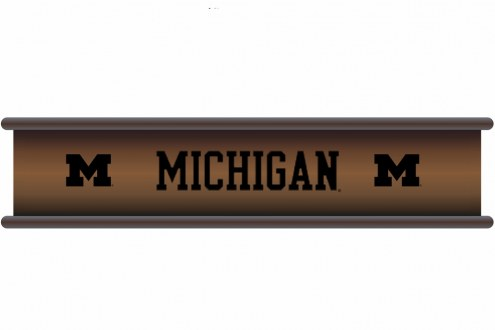 Michigan Wolverines Wood Wall Shelf