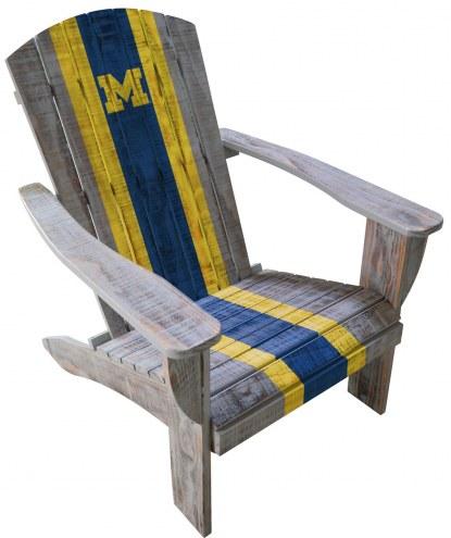 Michigan Wolverines Wooden Adirondack Chair