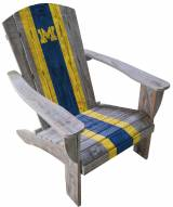 Michigan Wolverines Wooden Adirondack Chair
