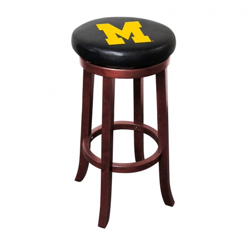 Michigan Wolverines Wooden Bar Stool