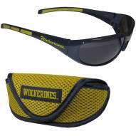 Michigan Wolverines Wrap Sunglasses and Case Set