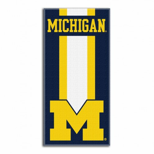 Michigan Wolverines Zone Read Beach Towel