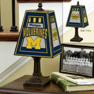 Michigan Wolverines NCAA Hand-Painted Art Glass Table Lamp