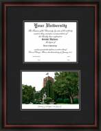 University of Michigan Ann Arbor Diplomate Framed Lithograph with Diploma Opening
