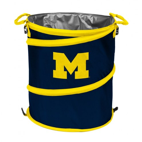 Michigan Wolverines Collapsible Trashcan