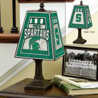 Michigan State Spartans NCAA Hand-Painted Art Glass Table Lamp