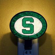 Michigan State Spartans NCAA Stained Glass Night Light