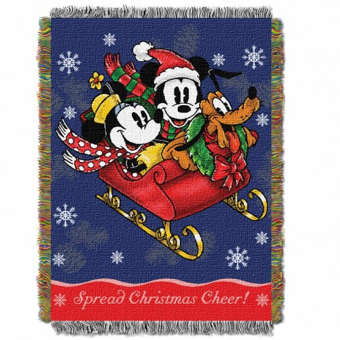 Mickey's Sleigh Ride Throw Blanket