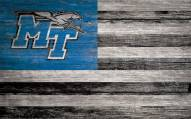"Middle Tennessee State Blue Raiders 11"" x 19"" Distressed Flag Sign"