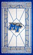 "Middle Tennessee State Blue Raiders 11"" x 19"" Stained Glass Sign"