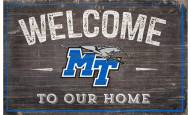 "Middle Tennessee State Blue Raiders 11"" x 19"" Welcome to Our Home Sign"
