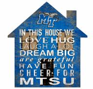 "Middle Tennessee State Blue Raiders 12"" House Sign"