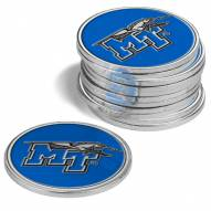 Middle Tennessee State Blue Raiders 12-Pack Golf Ball Markers