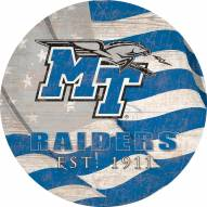 "Middle Tennessee State Blue Raiders 12"" Team Color Flag Circle Sign"