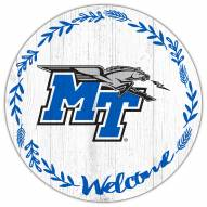 "Middle Tennessee State Blue Raiders 12"" Welcome Circle Sign"