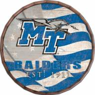 "Middle Tennessee State Blue Raiders 16"" Flag Barrel Top"