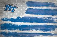 "Middle Tennessee State Blue Raiders 17"" x 26"" Flag Sign"