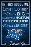 "Middle Tennessee State Blue Raiders 17"" x 26"" In This House Sign"