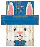 "Middle Tennessee State Blue Raiders 19"" x 16"" Easter Bunny Head"