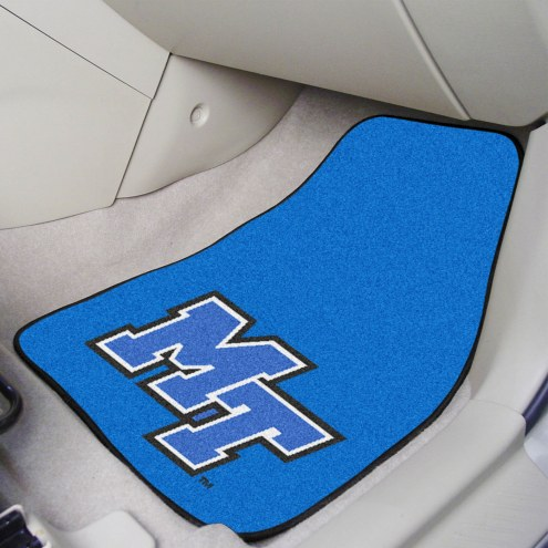 Middle Tennessee State Blue Raiders 2-Piece Carpet Car Mats
