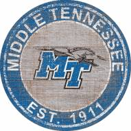 "Middle Tennessee State Blue Raiders 24"" Heritage Logo Round Sign"