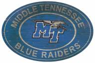 "Middle Tennessee State Blue Raiders 46"" Heritage Logo Oval Sign"