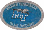 "Middle Tennessee State Blue Raiders 46"" Team Color Oval Sign"