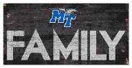 "Middle Tennessee State Blue Raiders 6"" x 12"" Family Sign"